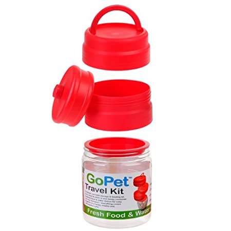 New Age Pets Clear/red Gopet Mess Kit