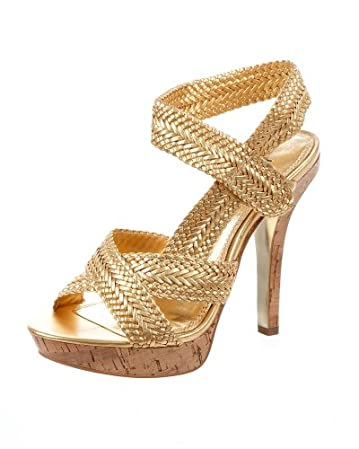 Carrie Corked Woven Sandal :  platform sandals shoes style