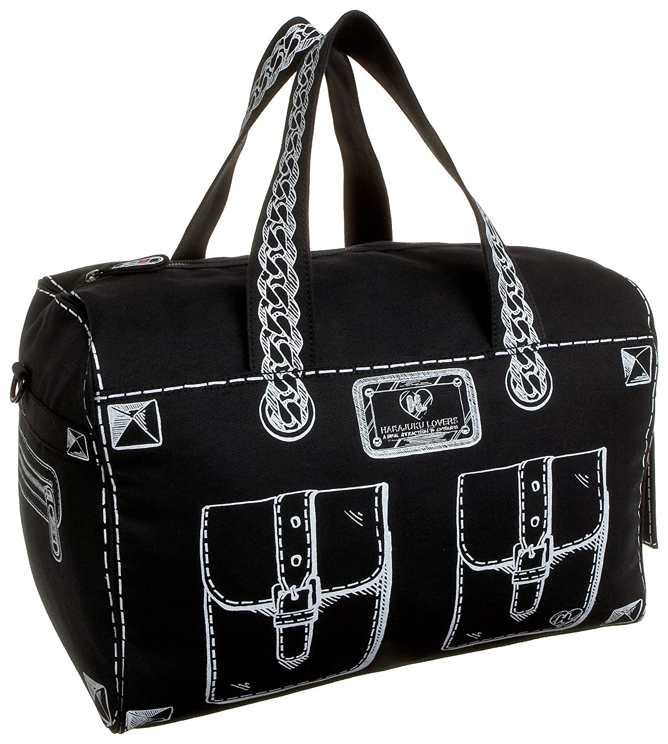 Harajuku Lovers Trompe L'oiel Trouble Satchel - Free Overnight Shipping & Return Shipping: Endless.com :  handles shoulder satchel zipper