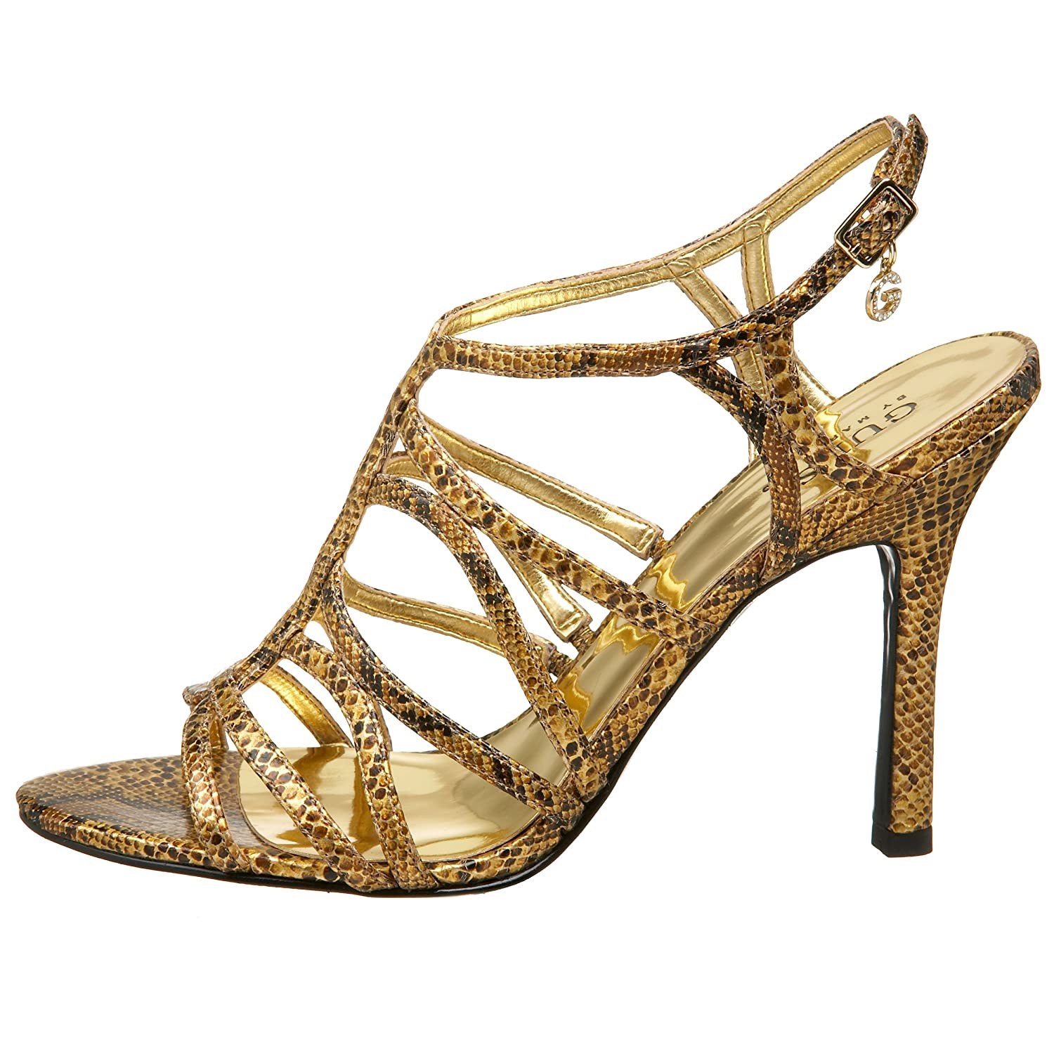 GUESS Goally 2 Sandal - Endless.com :  sandal strappy snakeskin guess