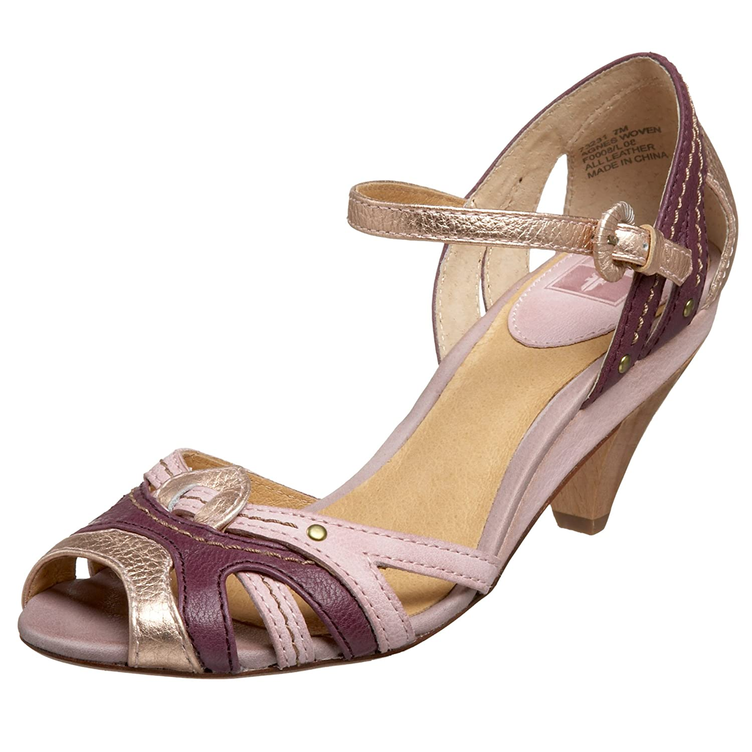 FRYE Women's Agnes Ankle Strap Heel - Free Overnight Shipping & Return Shipping: Endless.com :  leather mid-heel retro heels