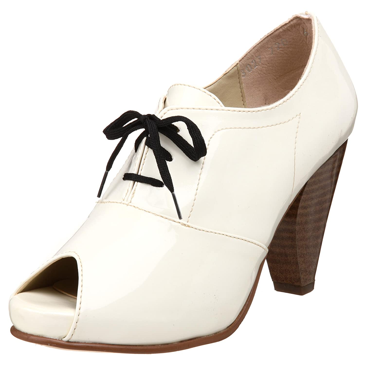 olsenHaus Women's Charm Oxford  :  peeptoe shoes womens shoes peeptoe menswear inspired