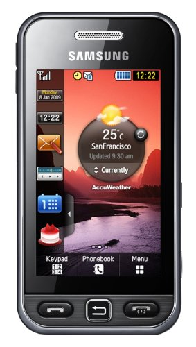 Samsung S5230 Star Smartphone (Touchscreen, 3MP Kamera, Video, MP3-Player, Bluetooth) noble-black - Samsung