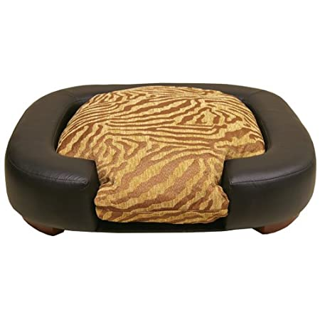 Furniture Quality Oval Dog Bed Zebra/black