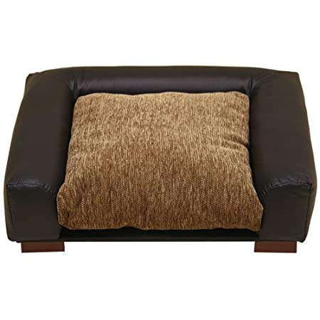 Furniture Quality Square Dog Bed Mocha/black