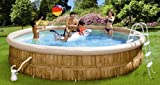 Friedola  12295 - Family Pool Set venice mit aufblasbarem ring, 550 x 100 cm, blau