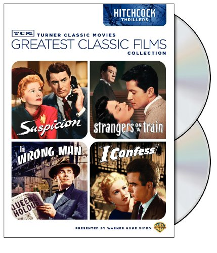 TCM Greatest Classic Films Collection: Hitchcock Thrillers Suspicion / Strangers on a Train / The Wrong Man / I Confess