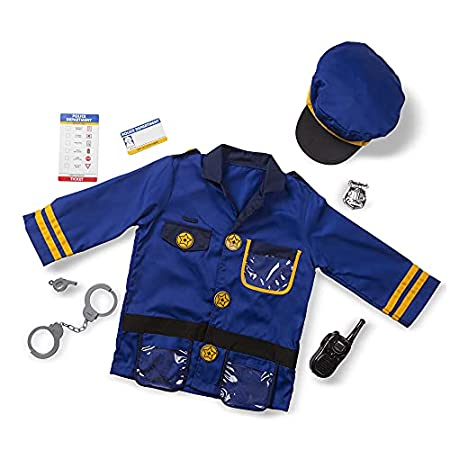 Melissa Doug Roleplay Costume Set Police Officer