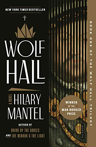 Book Wolf Hall - words on a red background