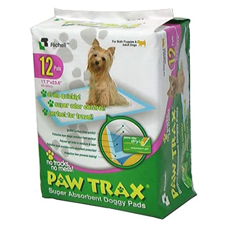 Paw Trax Super Absorbent Training Pads – 12 Pack