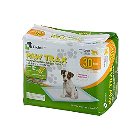 Paw Trax Super Absorbent Training Pads – 30 Pack