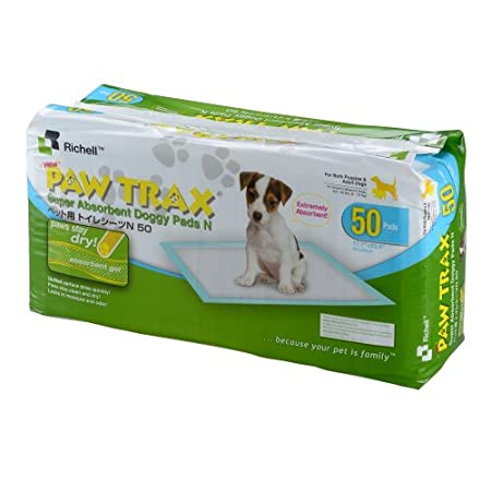 Paw Trax Super Absorbent Training Pads – 50 Pack