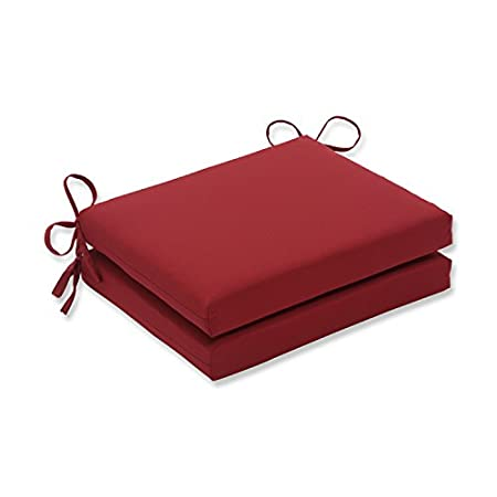 cheap outdoor patio red solid seat pad dining bistro chair cushion set