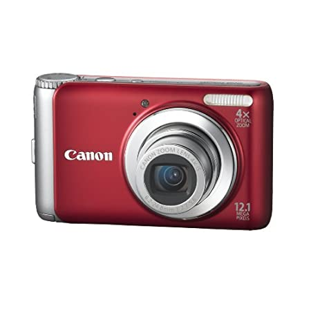 Canon Powershot 12.1mp Digital Camera Red A3100 Is