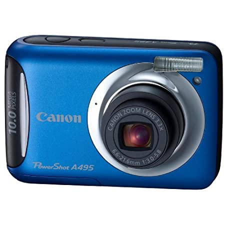 Canon A495 10.0mp Digital Camera With 3x Optical Zoom – Blue