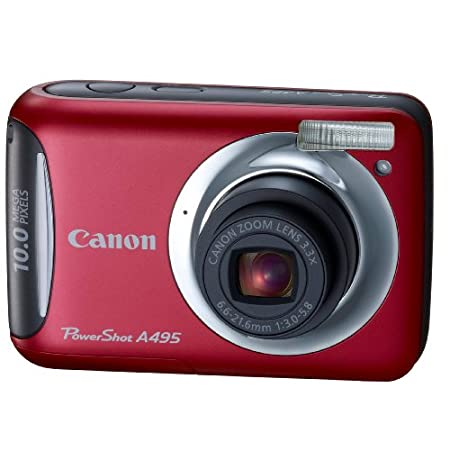Canon A495 10.0mp Digital Camera With 3x Optical Zoom – Red
