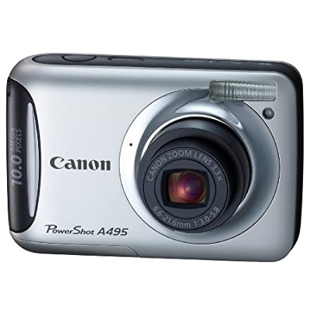 Canon A495 10.0mp Digital Camera With 3x Optical Zoom – Silver