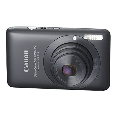 Canon Powershot 14.1mp Digital Camera Black Sd1400 Is