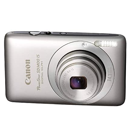 Canon Powershot 14.1mp Digital Camera Silver Sd1400 Is