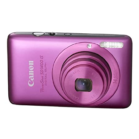 Canon Powershot 14.1mp Digital Camera Pink Sd1400 Is