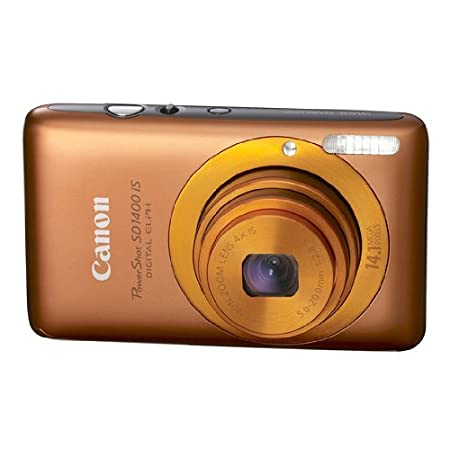 Canon Powershot 14.1mp Digital Camera Orange Sd1400 Is