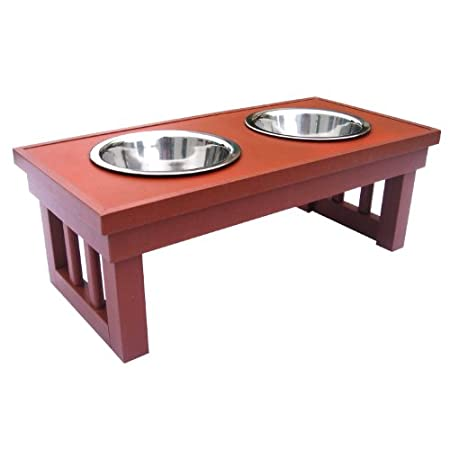 New Age Pets Chestnut Indoor/outdoor Raised Diner