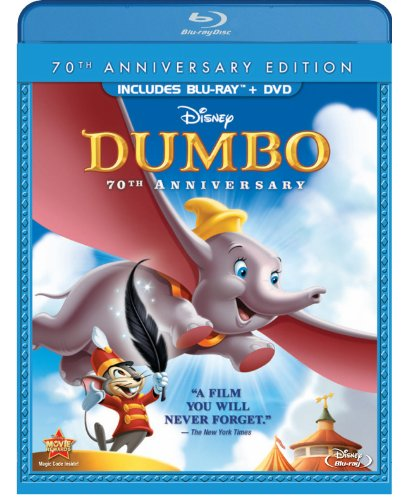 Dumbo Two-Disc 70th Anniversary Edition Blu-ray / DVD Combo Pack in Blu-ray Packaging
