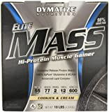 Dymatize Elite Mass, Cookies und Cream, 1er Pack (1 x 4.54 kg)