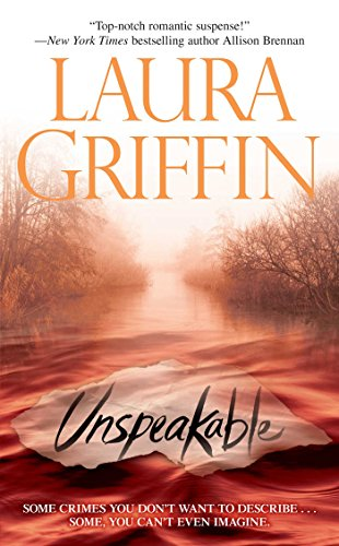 Book Unspeakable Laura Griffin - a landscape in reds and oranges with ice