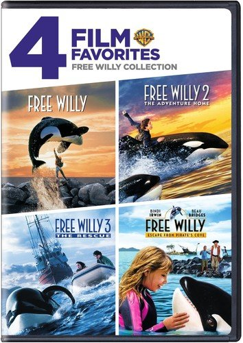 Free Willy Collection: 4 Film Favorites Free Willy / Free Willy 2 The Adventure Home / Free Willy 3 The Rescue / Free Willy Escape from Pirate's Cove
