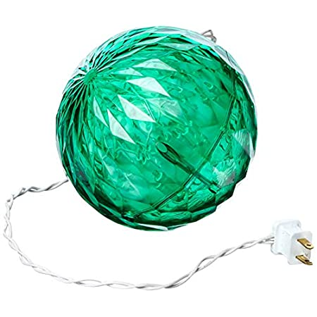 "Led Crystal Ball Outdoor – Green (6"")"