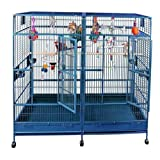 Amazon.com: Enormous Double Macaw Bird Cage Color: Platinum: Pet Supplies cover