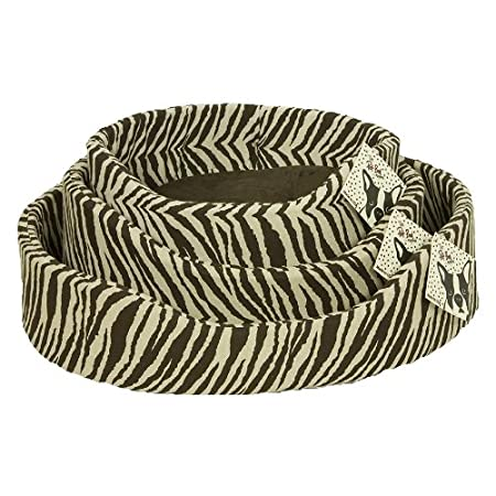 Cotton Tale Chocolat Zebra Petite Rnd Pet Bed