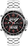 Jacques Lemans, Formula 1, Herrenarmbanduhr, Analog/Digital Multifunction - Chrono schwarz/rot
