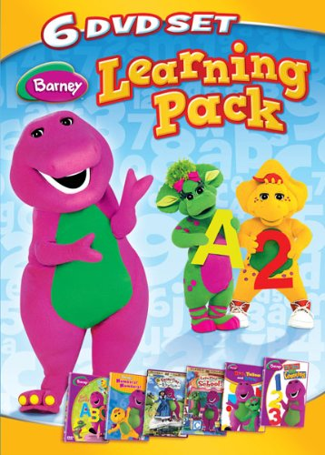 Barney: Six-DVD Learning Pack Now I Know My ABC's / Numbers Numbers / Rhyme Time Rhythm / Let's Play School / Red Yellow Blue / It's Time For Counting