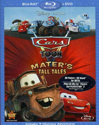 Cars Toon: Mater's Tall Tales Two Disc Blu-ray/DVD Combo