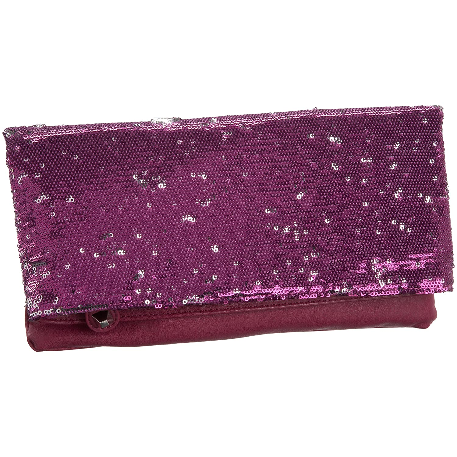BCBGeneration - Molly Sequined Fold-Over Clutch :  sequined clutch foldover clutch bag clutch