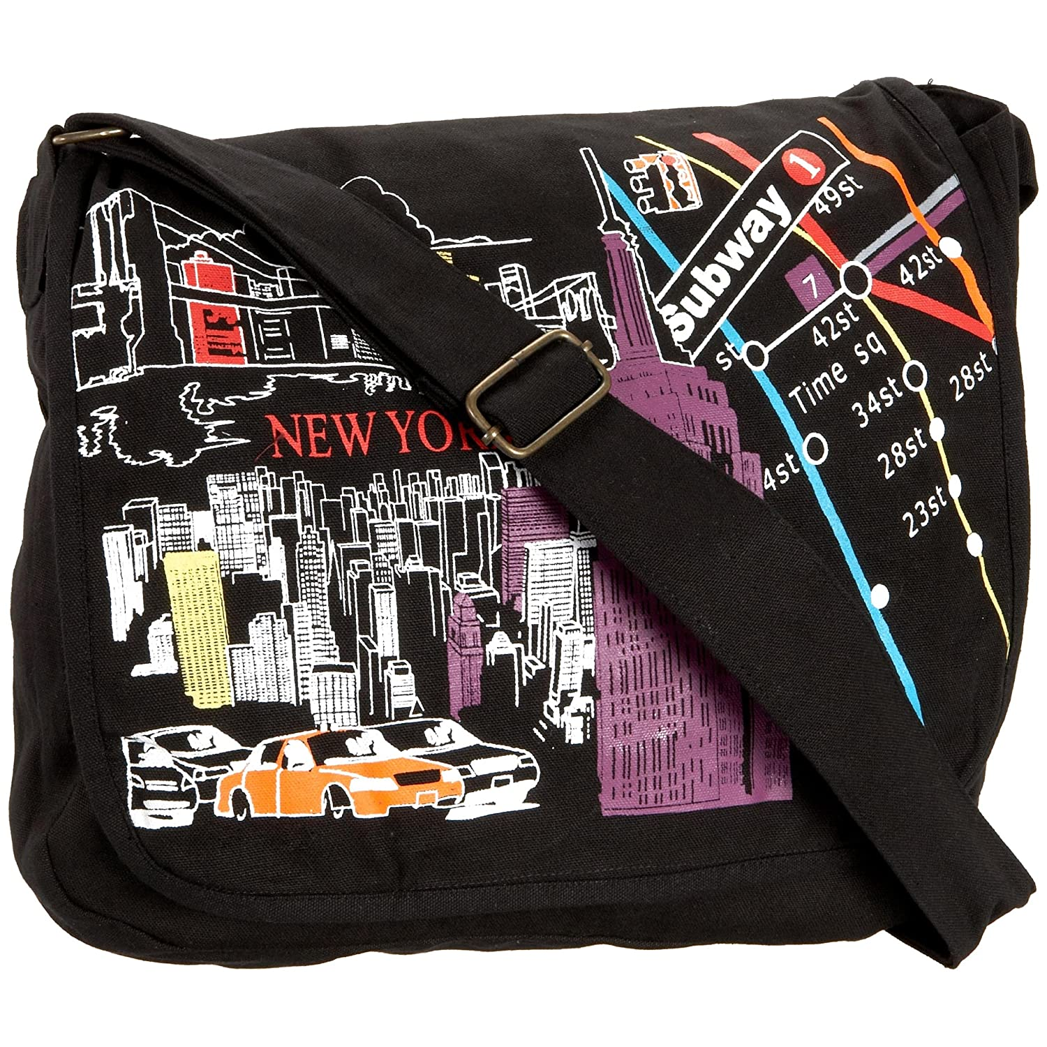 Prezzo NY Scenes Messenger Bag :  prezzo ny scenes messenger bag beach bag new york messenger bag
