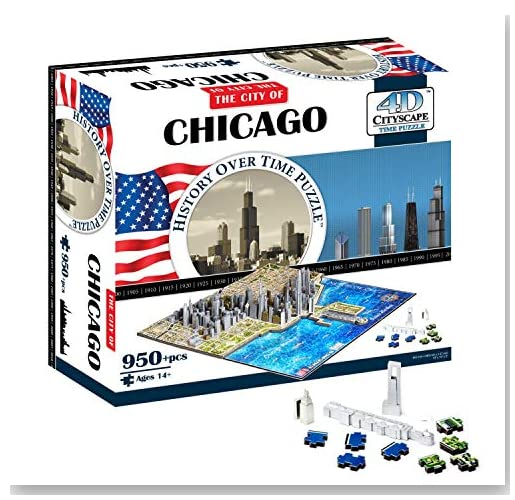 4D Chicago Cityscape Time Puzzle