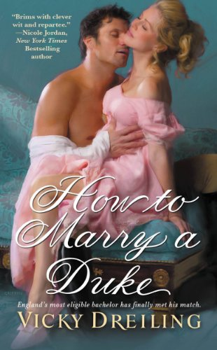 Book How to Marry a Duke. He's nuzzling her carotid artery as usual