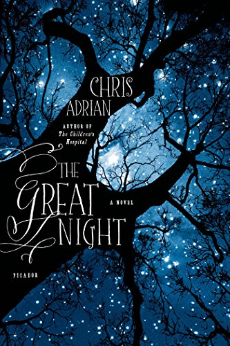 Book The Great Night - a shot of a tree looking up at a night sky from the trunkbase with title written on the trunk
