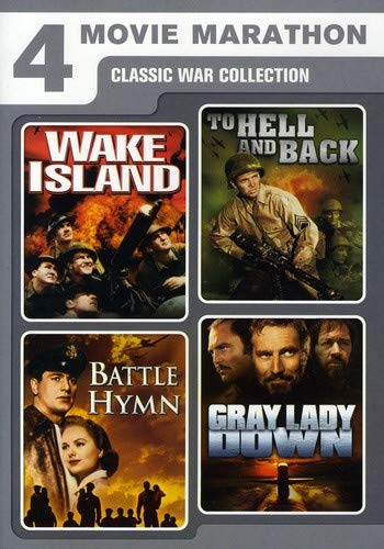 Four-Movie Marathon: Classic War Collection Wake Island / To Hell and Back / Battle Hymn / Gray Lady Down
