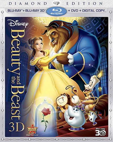Beauty and the Beast Five Disc Combo: Blu-ray 3D / Blu-ray / DVD / Digital Copy