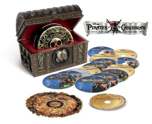 Pirates of the Caribbean Four-Movie Collection Blu-ray + Digital Copy
