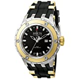 Invicta Men's Reserve Speciality Subaqua GMT Analogue Watch 6178 with Black Dial, IPG Bezel andn Black PU Strap