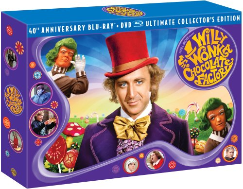 Willy Wonka & Chocolate Factory Three-Disc 40th Anniversary Collector's Edition Blu-ray/DVD Combo