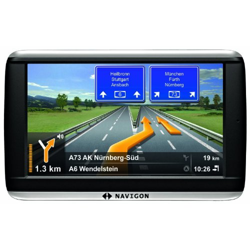 NAVIGON 42 Plus Navigationssystem (10,9cm (4,3 Zoll) Display, Europa 44, TMC, NAVIGON Flow, Text-to-Speech, Aktiver Fahrspurassistent ) -- Navigon