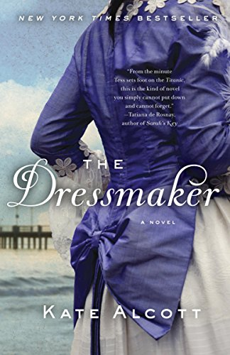Book The Dressmaker - a close up of a violet bustle on the back of a dress