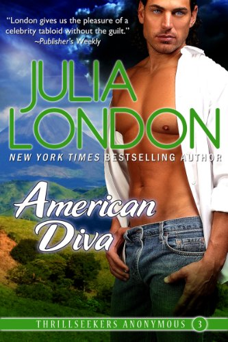 Book American Diva - Julia London - Dude with his shirt open looking into the middle distance with an