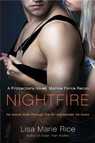 Nightfire - a muscular guy in a tanktop and dogtags with a woman behind him, reaching under his arms to grab at his shirt
